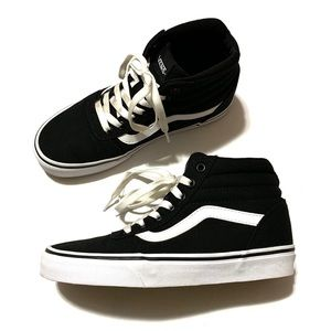 Vans Ward High-Top Sneakers/Shoes Black/White 6.5
